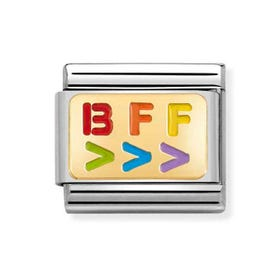 Classic Gold BFF Right Arrow Charm