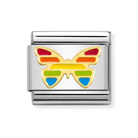 Classic Gold Butterfly Rainbow Charm