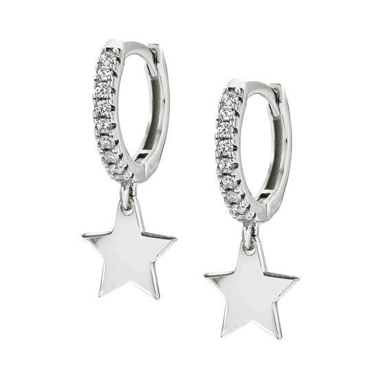 Chic & Charm Silver Star Earrings