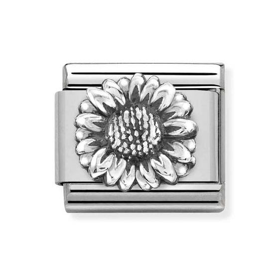 Classic Silver Sunflower Charm