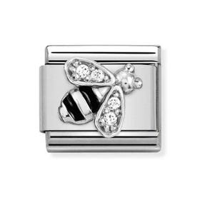 Classic Silver & CZ Bee Charm