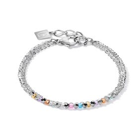 BRILLIANTCOEUR Double Strand Bracelet Multi Coloured Crystal