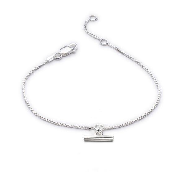 Silver Mini T-Bar Bracelet