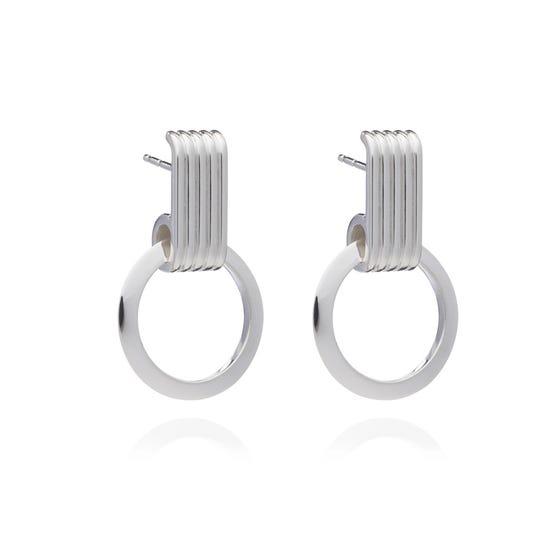 Silver Eternity Circle Earrings