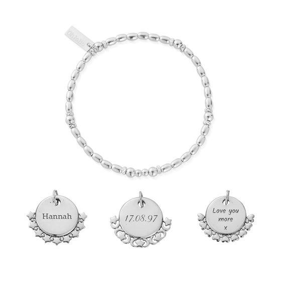 Silver Personalised Rice Bracelet