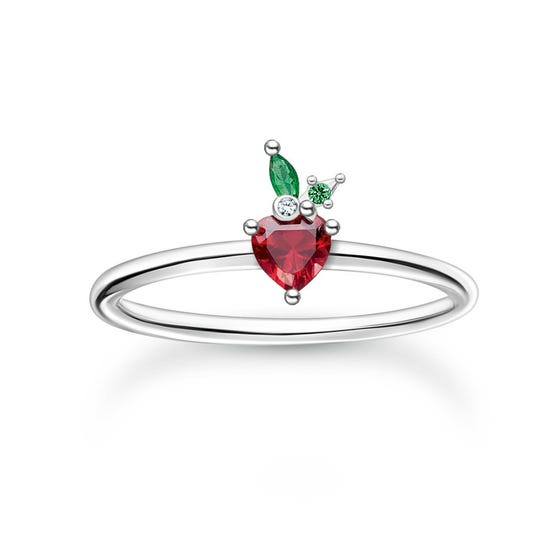 Silver Strawberry Ring