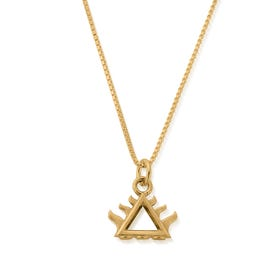 Gold Plated Box Chain Fire Necklace