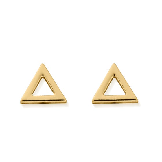 Gold Plated Fire Stud Earrings