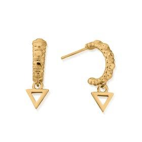 Gold Plated Water Mini Hoop Earrings