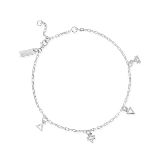 Silver Multi Charm Element Anklet