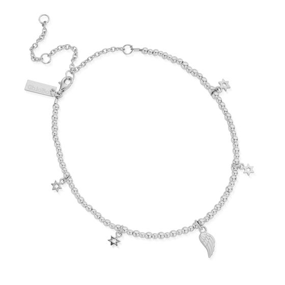 Silver Mini Cute Divinity Within Anklet