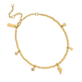Gold Plated Mini Cute Divinity Within Anklet