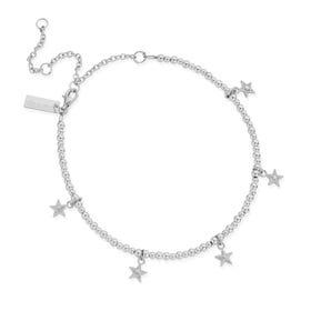 Silver Mini Cute Multi Star Anklet