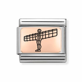 Classic Rose Gold Angel of the North Charm