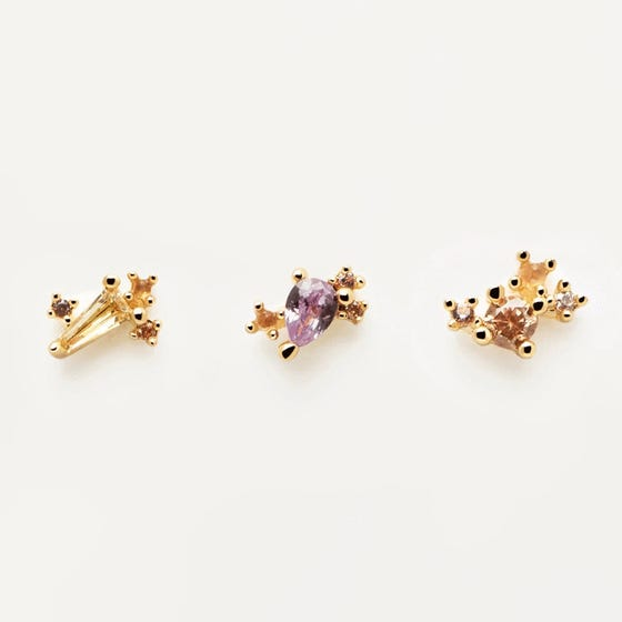 Gold Plated Serenity Earring Set