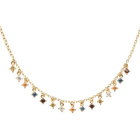 Gold Plated Willow Necklace
