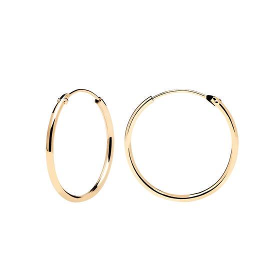 Gold Plated Medium Hoop Earrings
