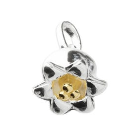 Silver May Birth Flower Lily of the Valley Pendant Charm