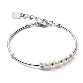 Elegance Pearl Bracelet with Crystal Glass & Freshwater Pearls