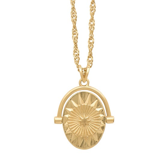 Gold Plated North Star Spinner Necklace