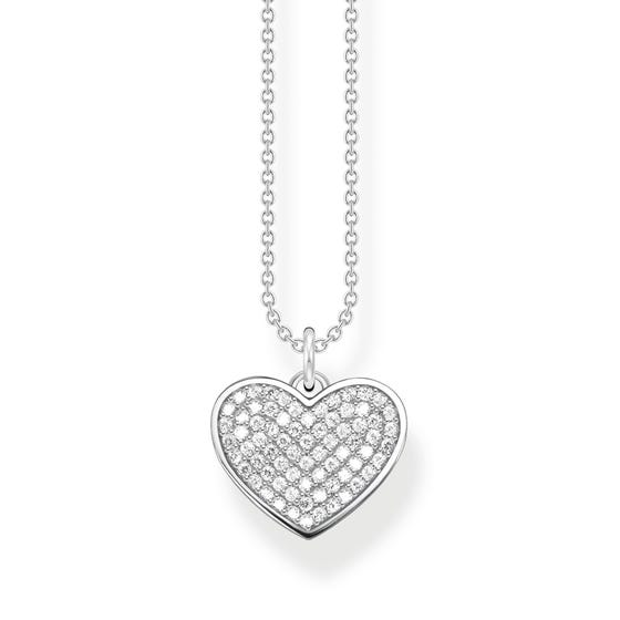 Silver & CZ Heart Necklace