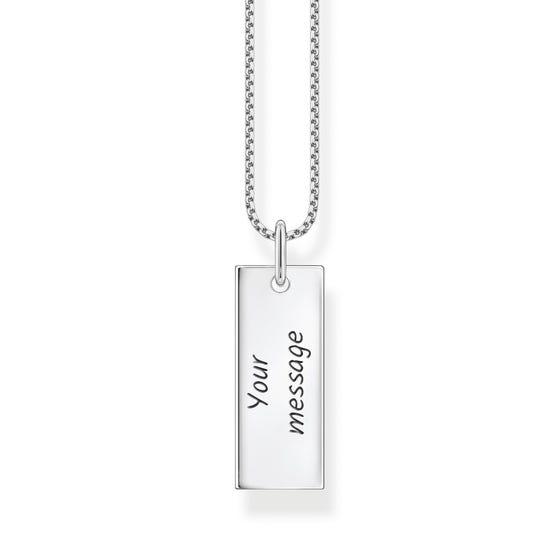 Silver Column Tag Necklace