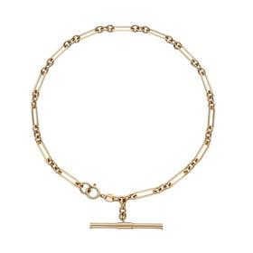 9ct Gold T-Bar Chain Bracelet