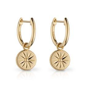 9ct Gold Wellness Hoop Earrings
