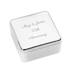 Personalised 'Anniversary' Engraved Jewellery Box