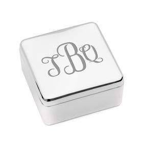Personalised Monogram Engraved Jewellery Box