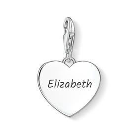 Heart Charm Engraved with Name