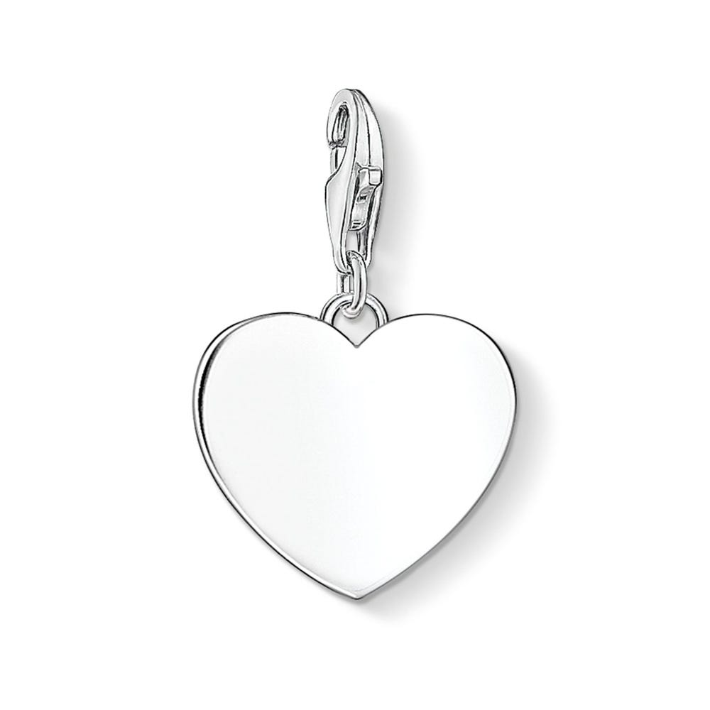 Thomas Sabo Heart Charm Engraved With 'Friends Forever X