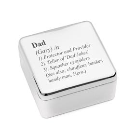 Personalised Definition of a Dad Jewellery Box