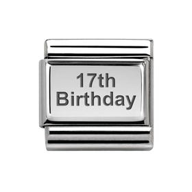 Classic Silver 17th Birthday Charm
