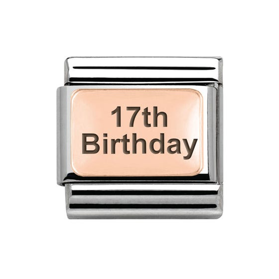 Classic Rose Gold 17th Birthday Charm