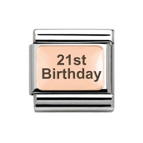 Classic Rose Gold 21st Birthday Charm