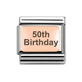 Classic Rose Gold 50th Birthday Charm