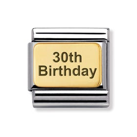 Classic Gold 30th Birthday Charm