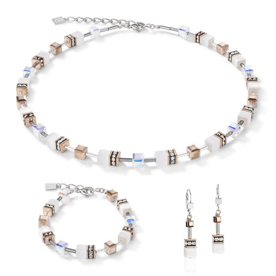 Looking Glass White Jewellery Set