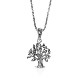Marcasite Tree Silver Necklace