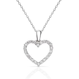 18ct White Gold 0.25ct Diamond Heart Necklace