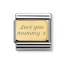 Classic Gold Love You Mummy Charm
