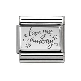 Classic Silver Floral Love You Mummy Charm