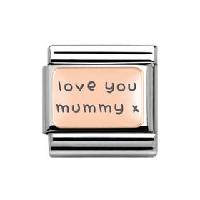 Classic Rose Gold Love You Mummy Charm