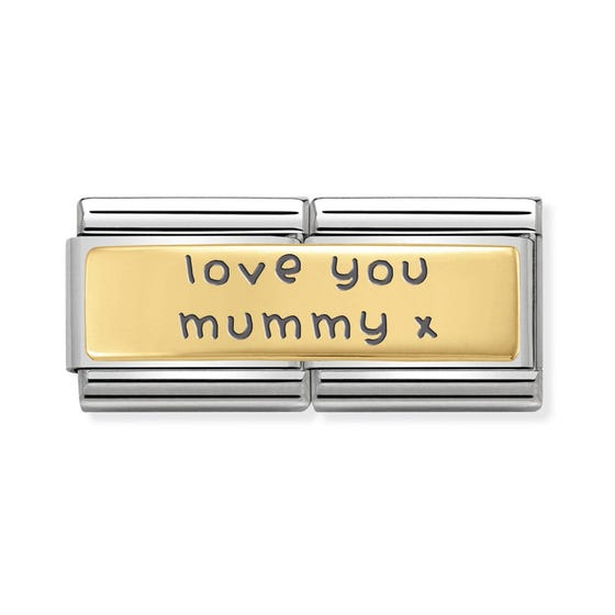 Classic Gold Love You Mummy Double Charm