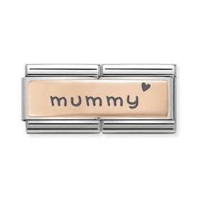Classic Rose Gold Mummy Double Charm