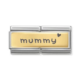 Classic Gold Mummy Double Charm