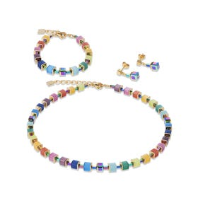 Classic GEOCUBE Sugarcubes Jewellery Set Rainbow