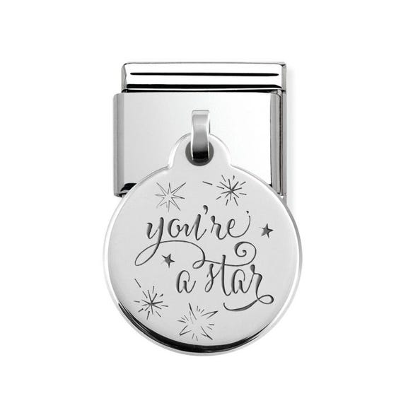 Classic Silver You're A Star Pendant Charm