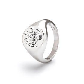 Silver Graduate 2021 Signet Ring